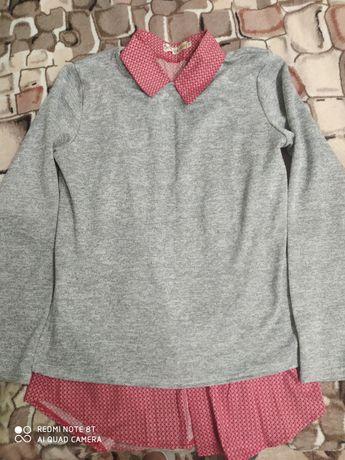 Кофта подвійна на дівчинку 10-13 років