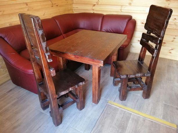 Комплект стол и два стула Дерево
