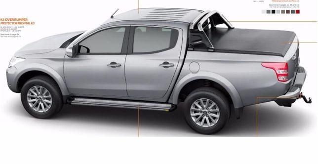Capota cobertura lona para pickup Navara, L200, Amarok, Hilux, Ranger