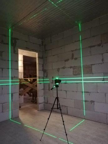 Poziomica laserowa Hilda 4d 360 stopni +pilot laser krzyżowy Nowy