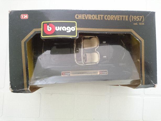 Chevrolet Corvette (1957) - Burago - com caixa original