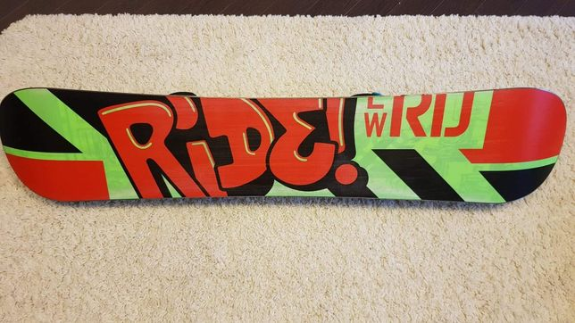 Deska Snowboard Ride 125cm z wiązaniami.