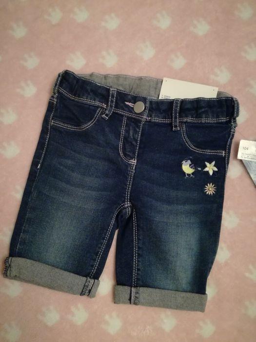 Spodenki, szorty jeans C&A, r. 104 Lędziny - image 1