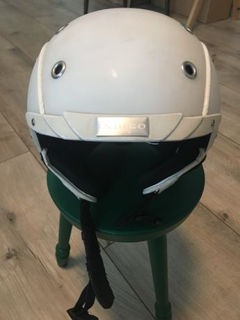 Kask Narciarski INDIGO helmet biały ze skórą S/M OBSERWUJ