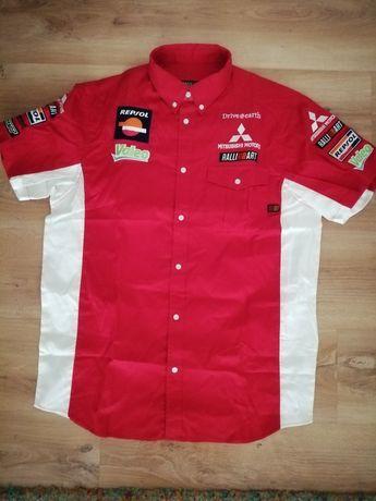 Koszulka polo Mitsubishi rally earth, nowa