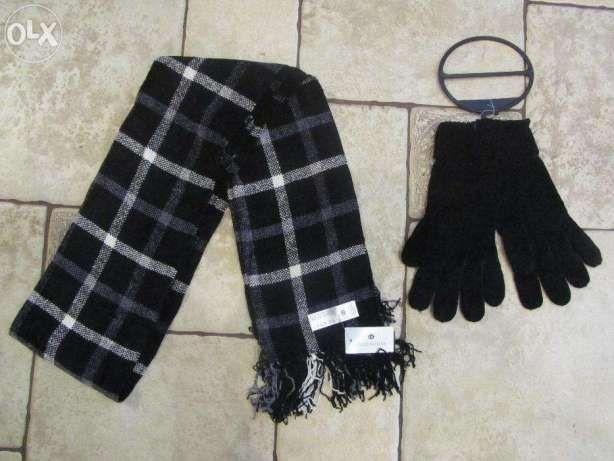 Nowy Szalik + Rękawiczki komplet zimowy firmy C & A