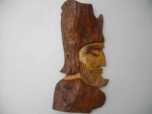 """Escultura em madeira """"Faraó"""""""