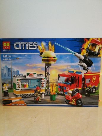 Klocki City Na ratunek w płonącym barze 345el.