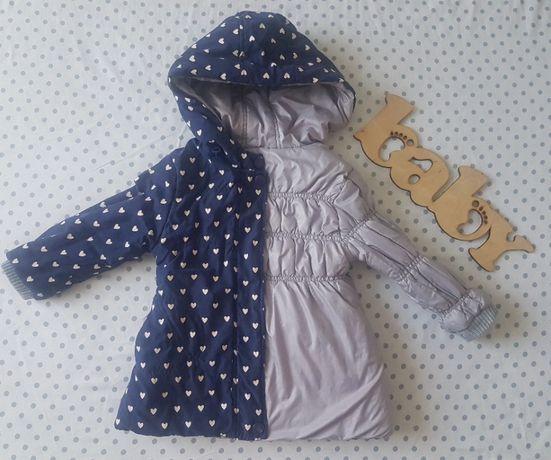 Двусторонняя зимняя куртка на девочку 1-2 года