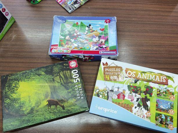 Conjunto de puzzles - crianças