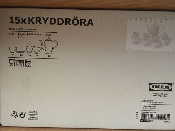 NOWY Komplet zastawa deserow kawowy Ikea 15 elem 6 os