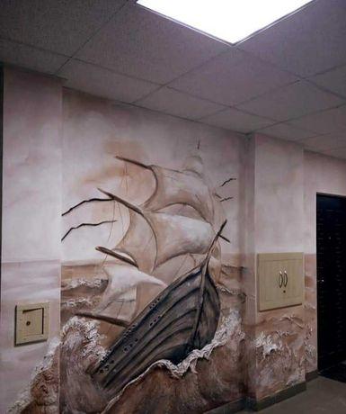 Барельеф и художественная роспись стен