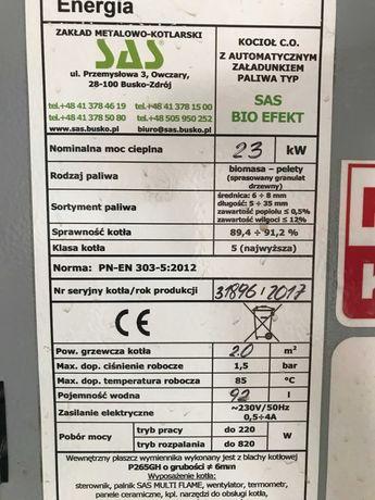 kocioł SAS pelet Bioefekt Ecodisign  23 kW 2017 r   5 klasa - jak nowy