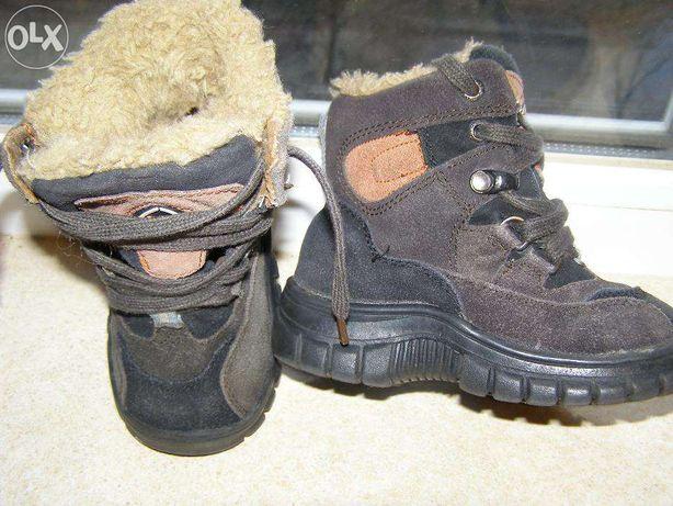 Замшевые ботиночки на мальчика р.24 (осень-зима),15 см.