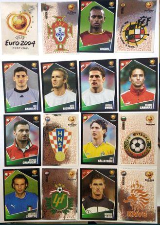 Vários cromos euro 2004 e euro 2008