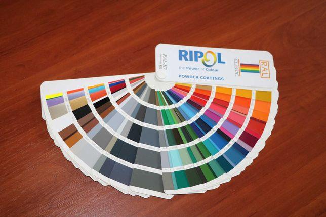 Каталог цветов RAL-K7, веер краски лаков