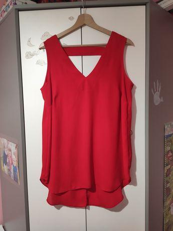 Czerwona dłuższa koszulka