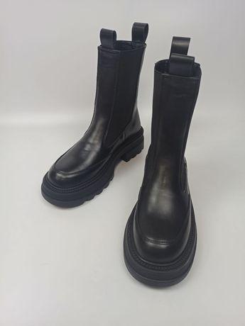 Стильні ботинки Челсі натуральна шкіра осінь/зима