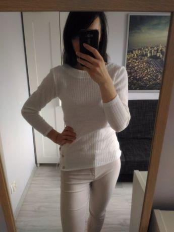Nowy biały ecru sweter 38 M