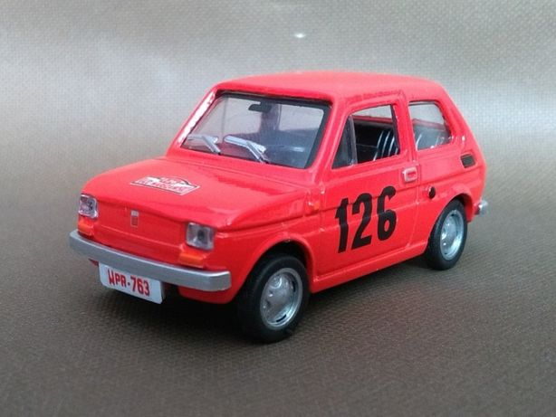 Fiat 126p Rajd Warszawski TEST Skala 1:43 Konwersja