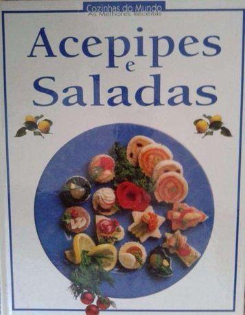 Livro Cozinhas do Mundo: as melhores receitas Acepipes e Saladas