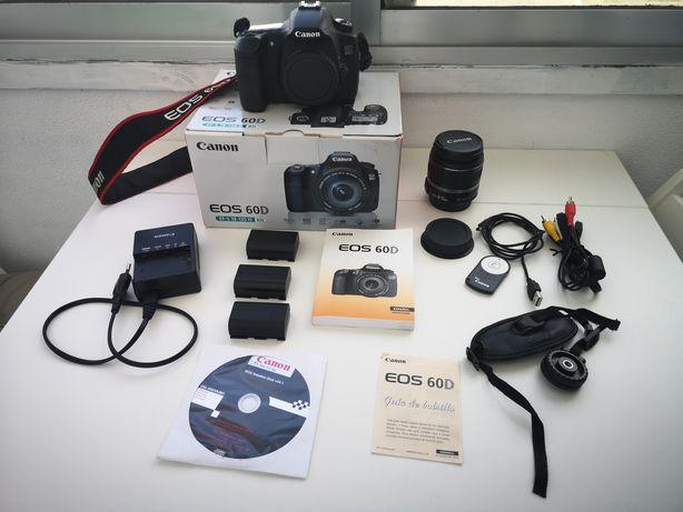 Canon 60D - Kit completo com lente