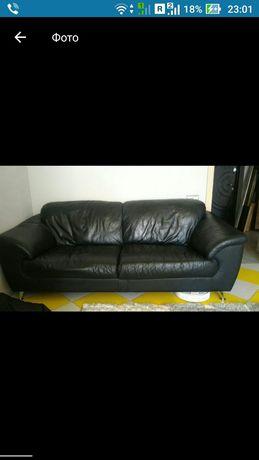 Кожаный диван. Диван. Мягкая мебель.