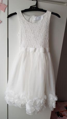 Elegancka sukieneczka dla dziewczynki rozmiar 128 cm