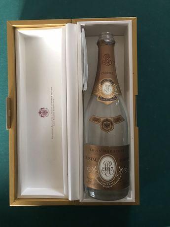 Garrafa champagne cristal vazia