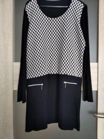 Piękna sukienka / tunika w pepitke 46/48