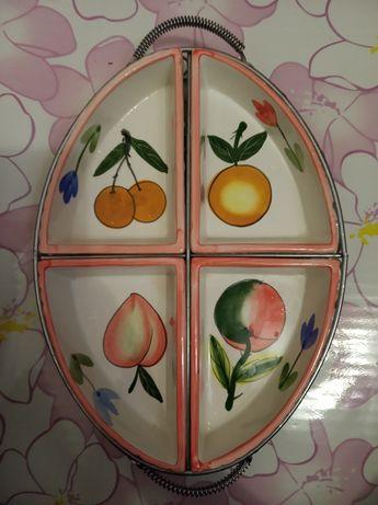 Менажница на 4 секции из керамики