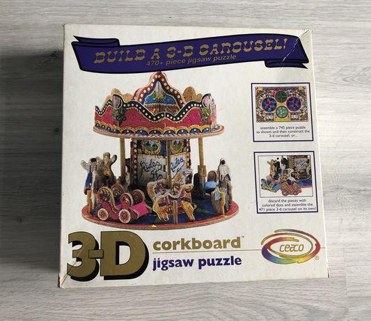 Puzzle 3D, ponad 470 elementów.