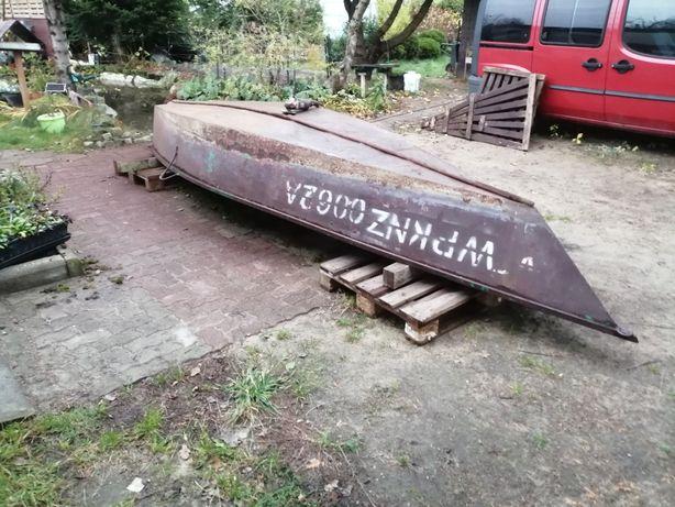 Łódka wędkarska metalowa