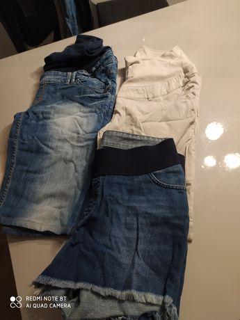 Letnie spodnie ciażowe hm mama L