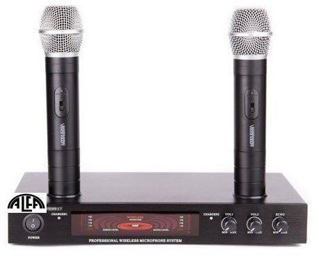 Mikrofony bezprzewodowe do ręki z wbudowaną ładowarką V-917
