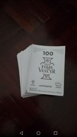 Fome de Vencer - Colecção Completa - 100 Cromos
