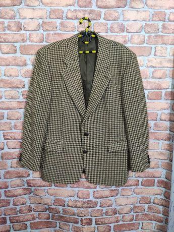 Шерстяной пиджак блейзер Harris tweed L