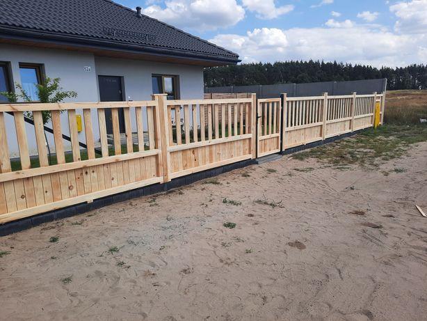Płoty bramy ogrodzenia drewniane