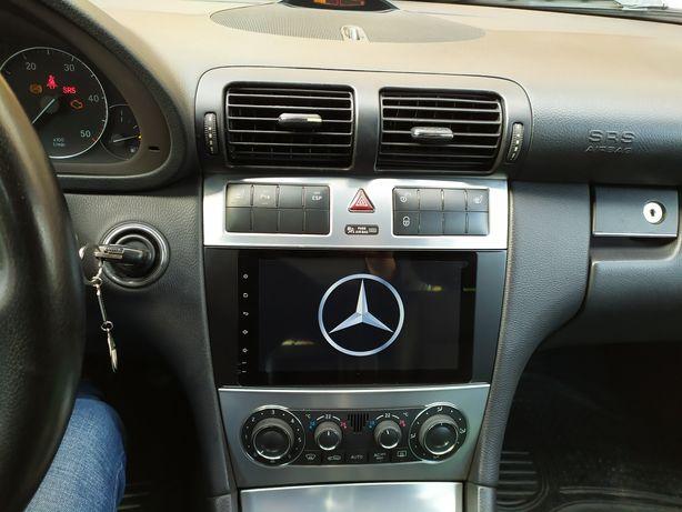 Auto rádio mercedes C220 C200 C270 gps bluetooth android w203