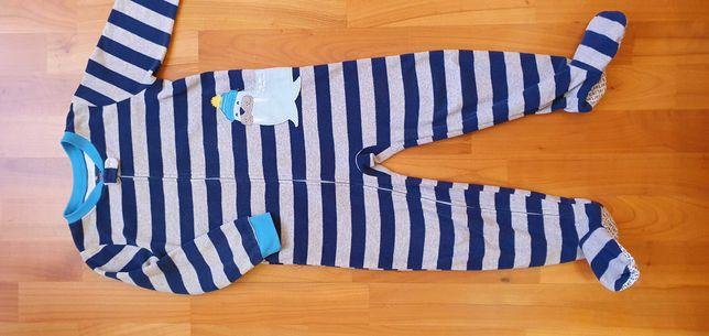 Флисовая пижама поддева человечек комбинезон carter's