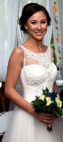 Przepiękna biała suknia Rebecca, kolekcja IN LOVE !! + welon
