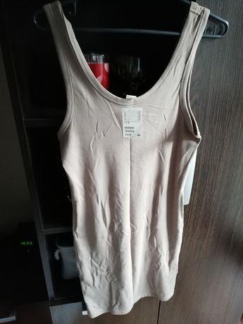 H&M bezowa sukienka basic 38 M nowa