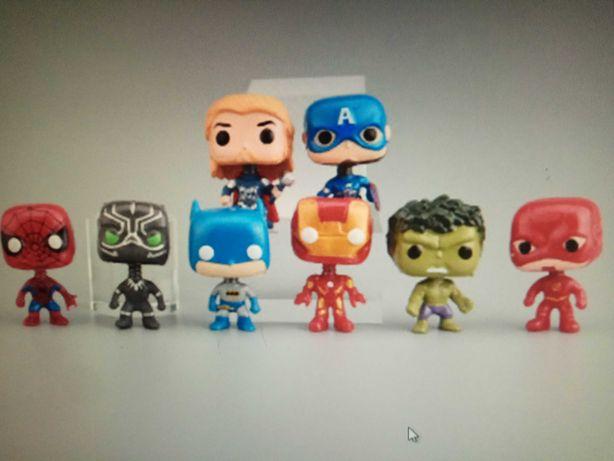 Zestaw 8 sztuk Avengers 3,5 cm Iron man, Hulk