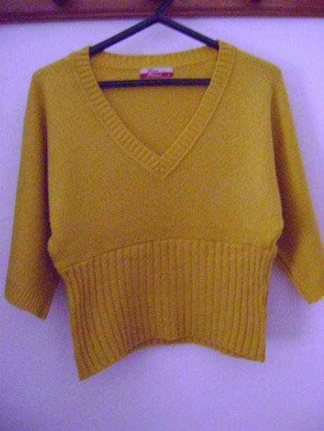 Camisola de lã amarela da Tinta Fresca - M - novo