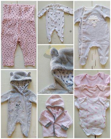 Zestaw ubranek niemowlęcych, ubranka dla dziewczynki r. 62