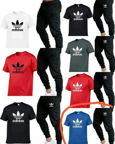 Komplety meskie z logo Adidas Nike Ck spodnie +koszulka M-XXL!!!