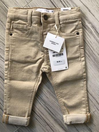 Spodnie beżowe Zara r. 80 nowe
