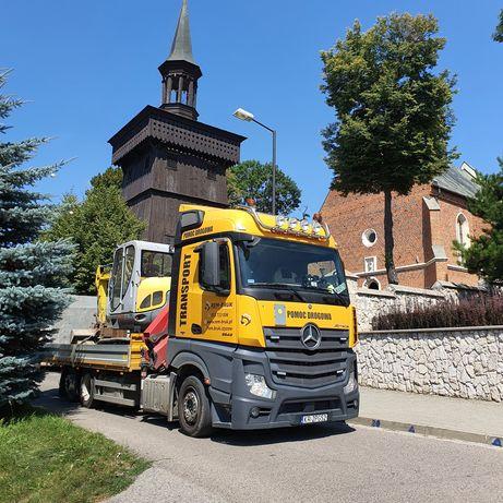 Usługi Transportowe , Laweta + HDS , Pomoc Drogowa , Transport Maszyn