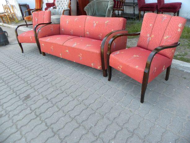 KOMPLET sofa + dwa babcine fotele