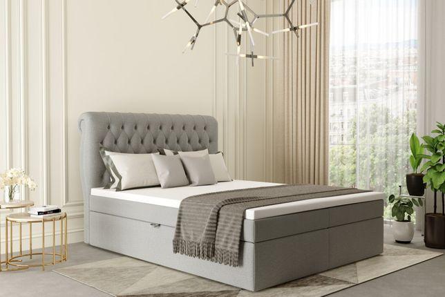 łóżko kontynentalne małżeńskie PORTO 140/200 pojemnik+matera nowość